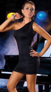 Клубное платье с асимметричным вырезом