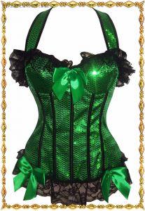 Зеленый корсет с блестками Шик